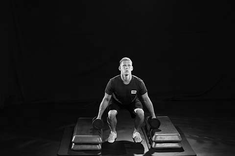 DB Deadlift B&W