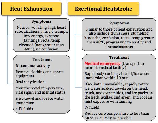 Heat Exhaustion v Heat Stroke