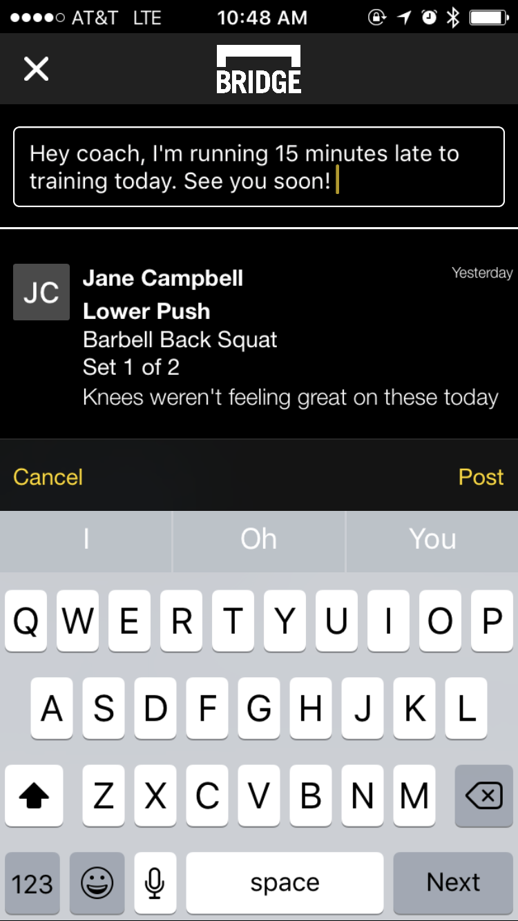 Image #1: In-App communication