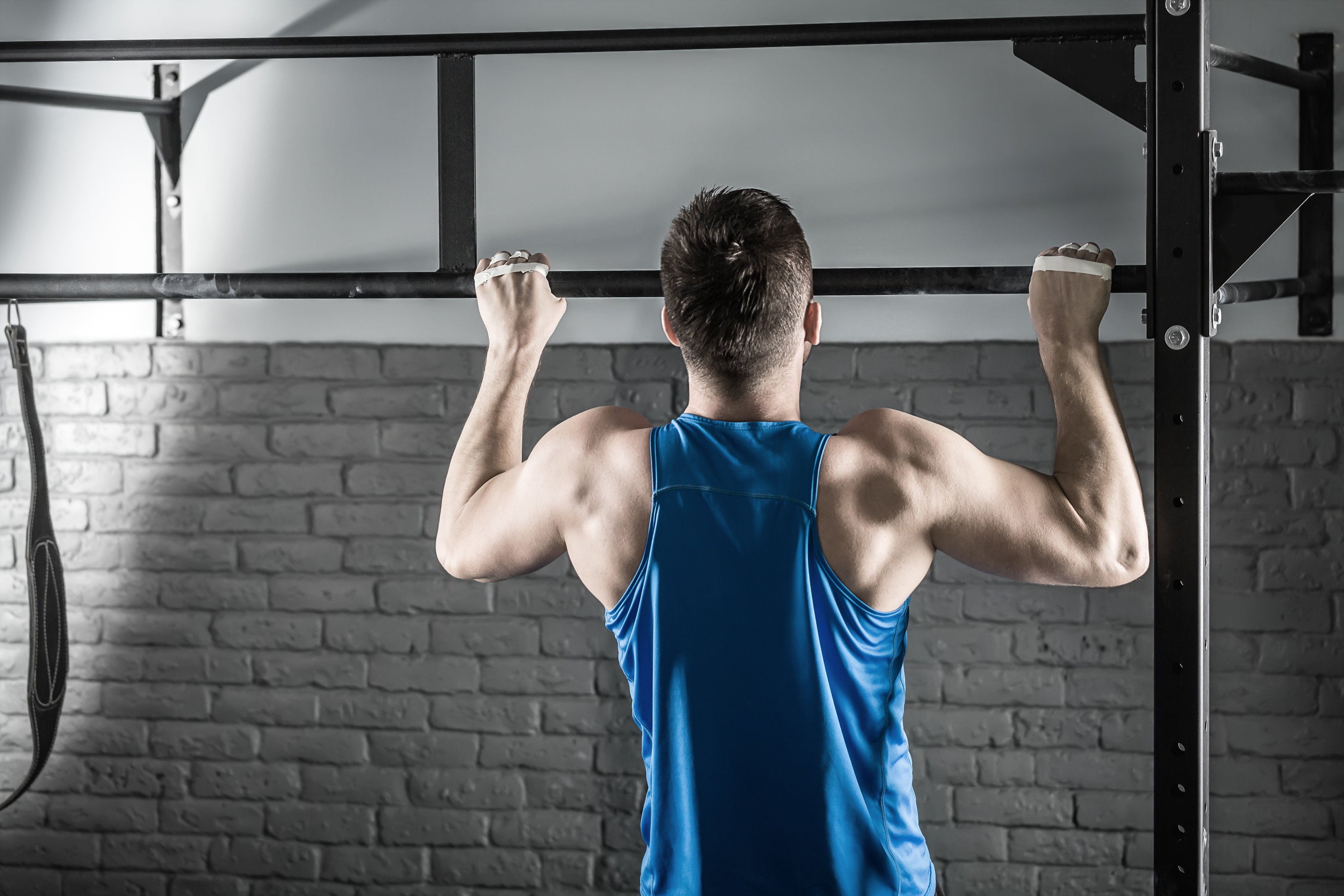 pull-up progression to improve strength to weight ratio, Muscles