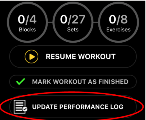 performance log