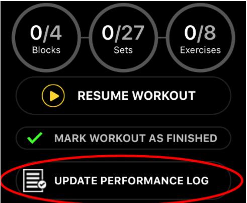 performance log