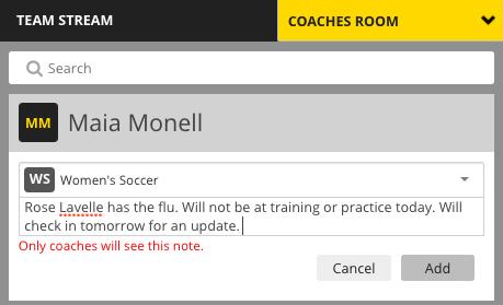 Image #6: Coaches Room Communication