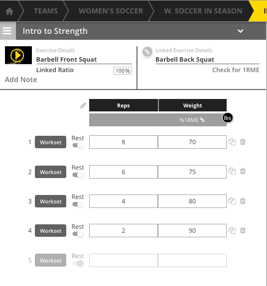 Strength Training Software: Leveraging Athlete Maxes and