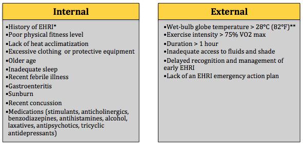 Table 1 - EHRI Risk Factors